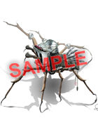 Image- Stock Art- Stock Illustration- Spider artifact with helmet