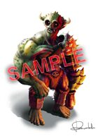 Image- Stock Art- Stock Illustration- Orc with armor white background