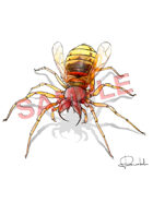 Image- Stock Art- Stock Illustration- Giant Spider_Wasp