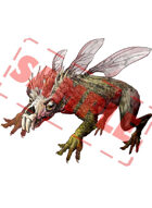 Image- Stock Art- Stock Illustration- Monster insect- Rat- frog_Flaky rodent fly