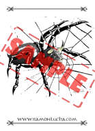 Image - Stock Art - Stock Illustration - Spider - bull - monster - japanese demon