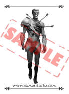 Image - Stock Art - Grayscale - Stock Illustration - skeleton - warrior - soldier