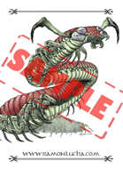 Image - Stock Art - Grayscale - Stock Illustration - rpg -Giant Centipedes - Mutant - Monster