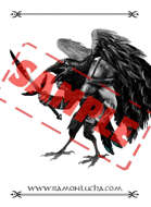 Image - Stock Art - Grayscale - Stock Illustration - Raven - Soldier - Bird man - warrior -fantasy