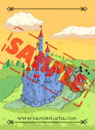 Image- Stock Art- Stock Illustration- Tale - Castle - Snail - Cartoon