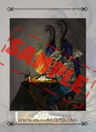 Image- Stock Art- Stock Illustration- Tale - evil - diabolic - writer - demon