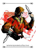 Image - Stock Art - Grayscale - Stock Illustration - rpg - Vampire - Hunter - warrior - rogue