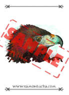 Image - Stock Art - Grayscale - Stock Illustration - rpg - Eagle - animal