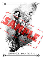 Image - Stock Art - Grayscale - Stock Illustration - rpg - Manga - Character - Samurai - Warrior - Japanese