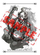 Image - Stock Art - Grayscale - Stock Illustration - rpg - Manga - Character - Samurai - Warrior - Japanese -  ninja