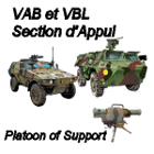 Counters VAB VBL Support French ARMY  for all Modern Skirmish Games Rules