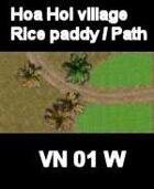 VN Hoa Hoi village Rice paddies /Path Map Vietnam Serie for all Modern Skirmish Games Rules