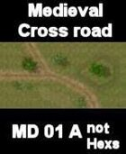 The Crossroads (no Hexs Overlay) MEDIEVAL Series for all Skirmish Games Rules