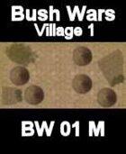 Village Map#1 BUSH WARS Series for all Modern Skirmish Games Rules