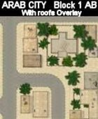 Block 1 / AB roofs ARAB CITY Series for all Modern Skirmish Games Rules