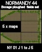 Bocage/ploughed field Set Maps #19 to #23 NORMANDY 44 Series for all WW2 Skirmish Games Rules