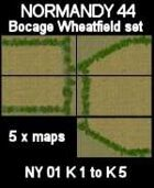 Bocage/Wheatfield Set Maps #24 to #28 NORMANDY 44 Series for all WW2 Skirmish Games Rules