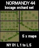 Bocage/Orchard Set Maps #29 to #33 NORMANDY 44 Series for all WW2 Skirmish Games Rules