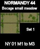 Bocage/Small meadow Set1 Maps #34 to #36 NORMANDY 44 Series for all WW2 Skirmish Games Rules