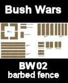 Bush / Farm barbed fence BUSH WARS Series for all Modern Skirmish Games Rules