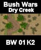 Dry Creek Map#5 BUSH WARS Series for all Modern Skirmish Games Rules