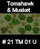 Wood #21 TOMAHAWK & MUSKET Series for Skirmish rules