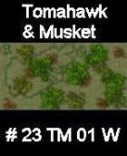 Wood #23 TOMAHAWK & MUSKET Series for Skirmish rules