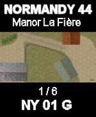 Manor La Fiere Map #1/6 NORMANDY 44 Series for all WW2 Skirmish Games Rules