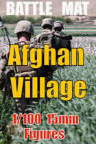 BATTLE MAT 1 ; Afghan Village Green Zone for 15mm - 1/100