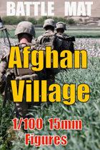 BATTLE MAT 3 ; Afghan Village Green Zone for 15mm - 1/100