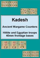 Kadesh : Hittite and Egyptian wargame counters