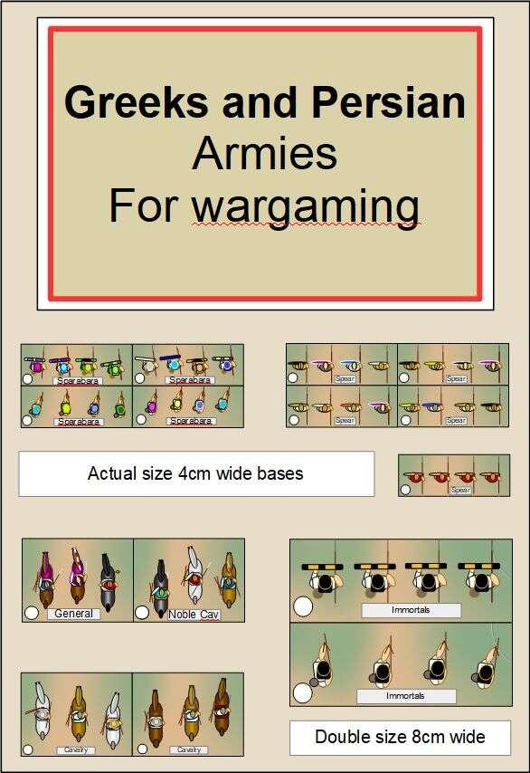 Greek and Persian war game armies DBA DBM style