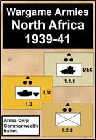 Wargame Armies : WW2 North Africa 1939 to 41