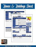 Sword Chronicle House & Holdings Sheet