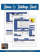 Sword Chronicle House & Holdings Sheet