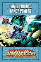 Mutants & Masterminds Power Profile #2: Armor Powers