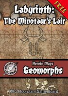 Heroic Maps - Geomorphs: Labyrinth: The Minotaur's Lair