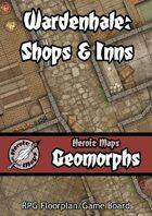 Heroic Maps - Geomorphs: Wardenhale Shops & Inns