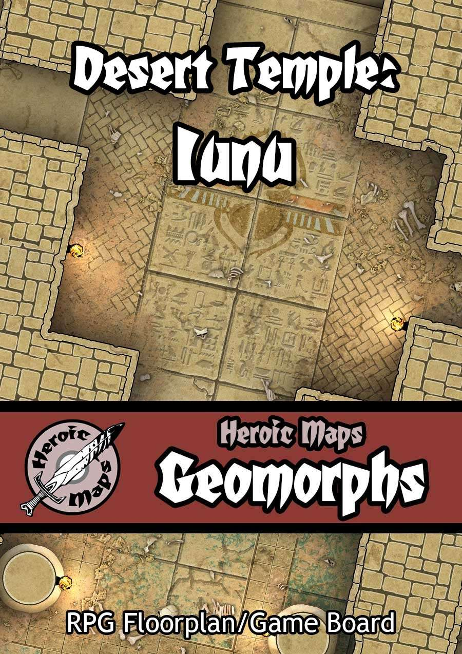 Heroic Maps - Geomorphs: Desert Temple Iunu