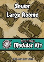 Heroic Maps - Modular Kit: Sewer Large Rooms