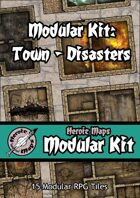 Heroic Maps - Modular Kit: Town - Disasters