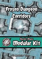 Heroic Maps - Modular Kit: Frozen Dungeon Corridors