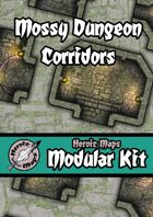 Heroic Maps - Modular Kit: Mossy Dungeon Corridors