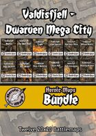 Heroic Maps - Valdisfjell Dwarven Mega City [BUNDLE]
