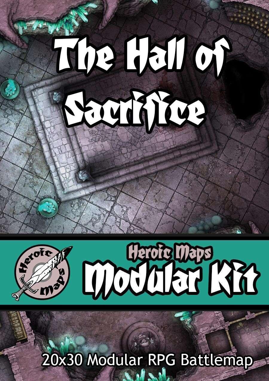 Heroic Maps - Modular Kit: The Under Caves - The Hall of Sacrifice