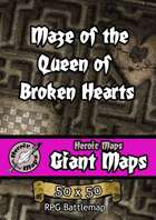 Heroic Maps - Giant Maps: Maze of the Queen of Broken Hearts