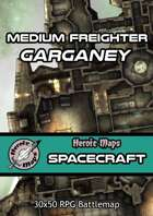 Heroic Maps - Spacecraft: Medium Freighter Garganey