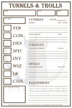 Tunnels & Trolls Character Sheet