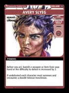 Avery Slyeg - Custom Card