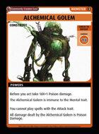 Alchemical Golem - Custom Card